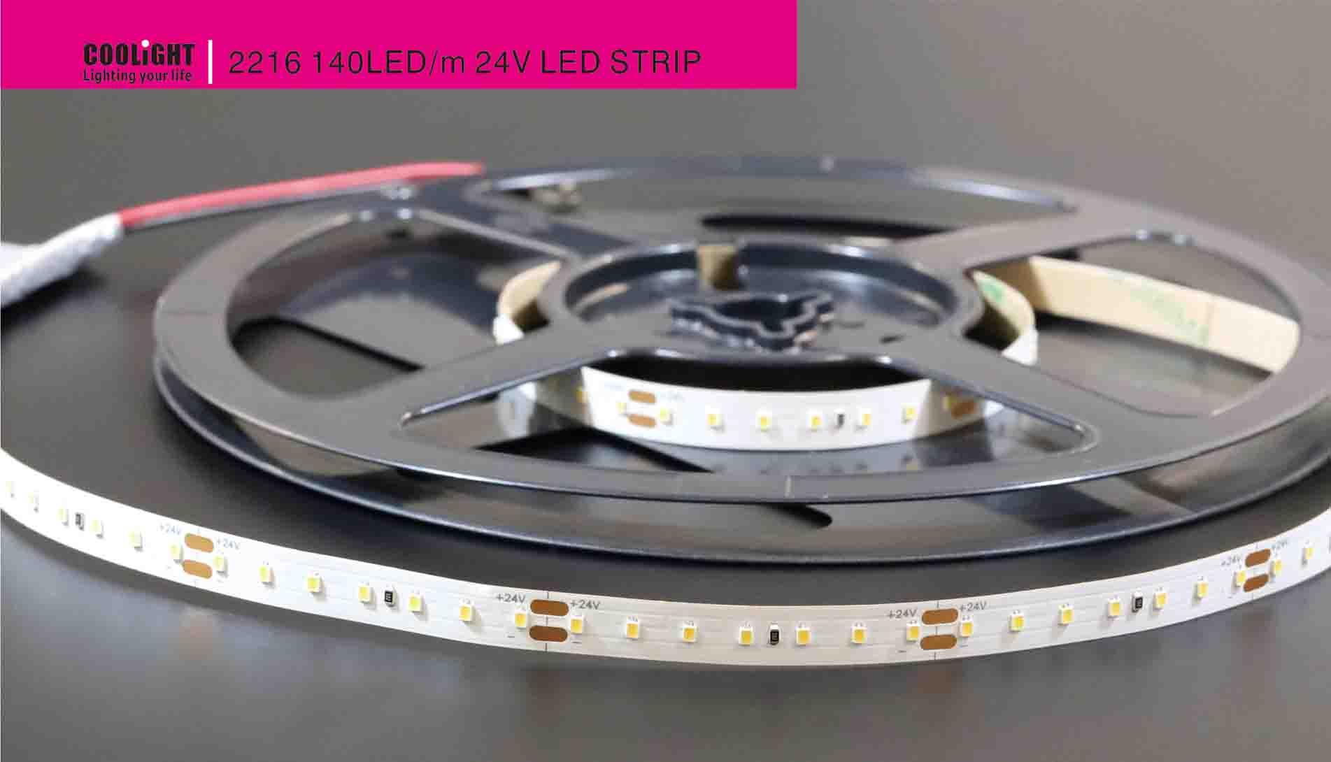 2216 140led/m 24v led strip