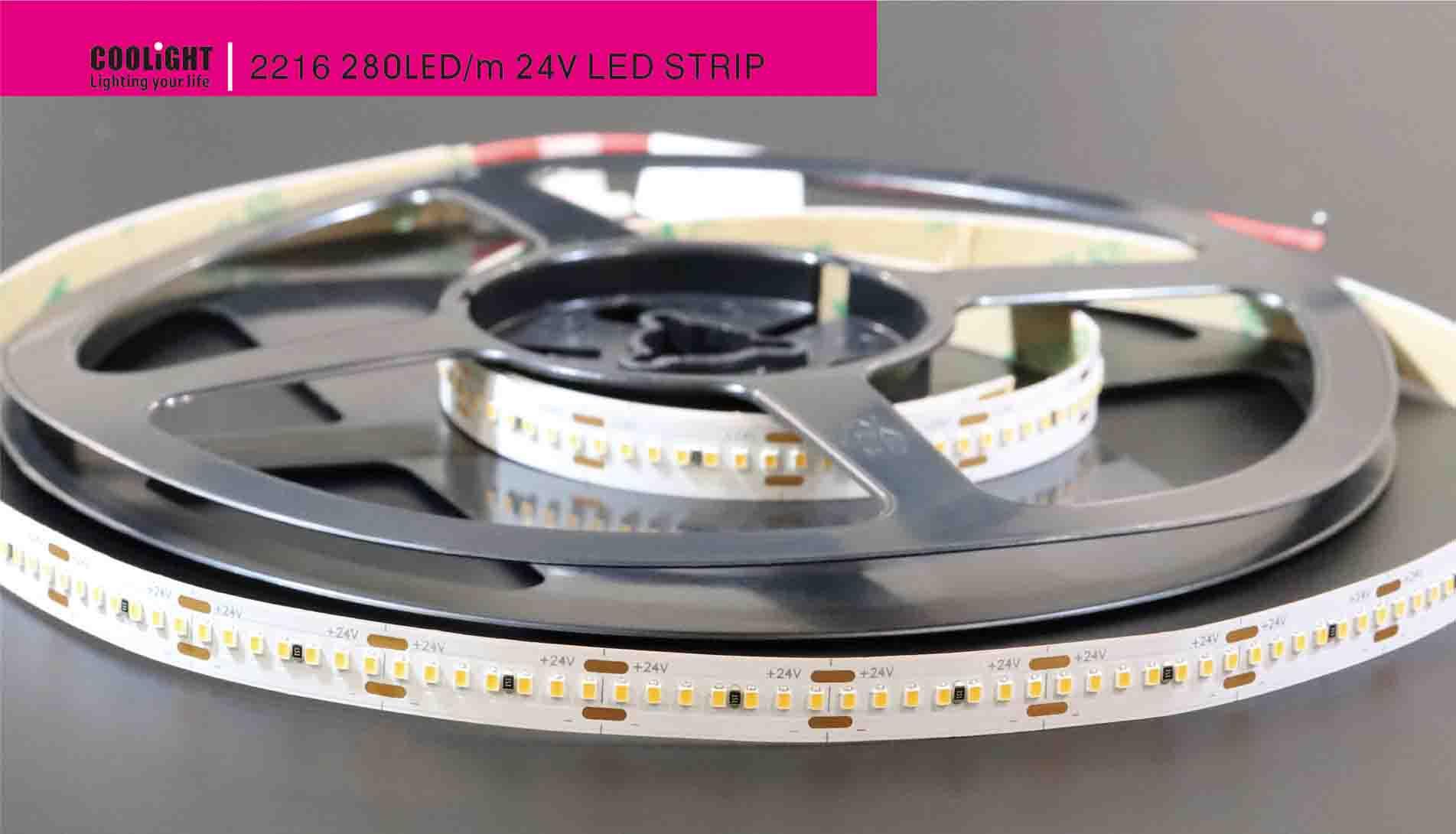 2216 280led/m 24v led strip