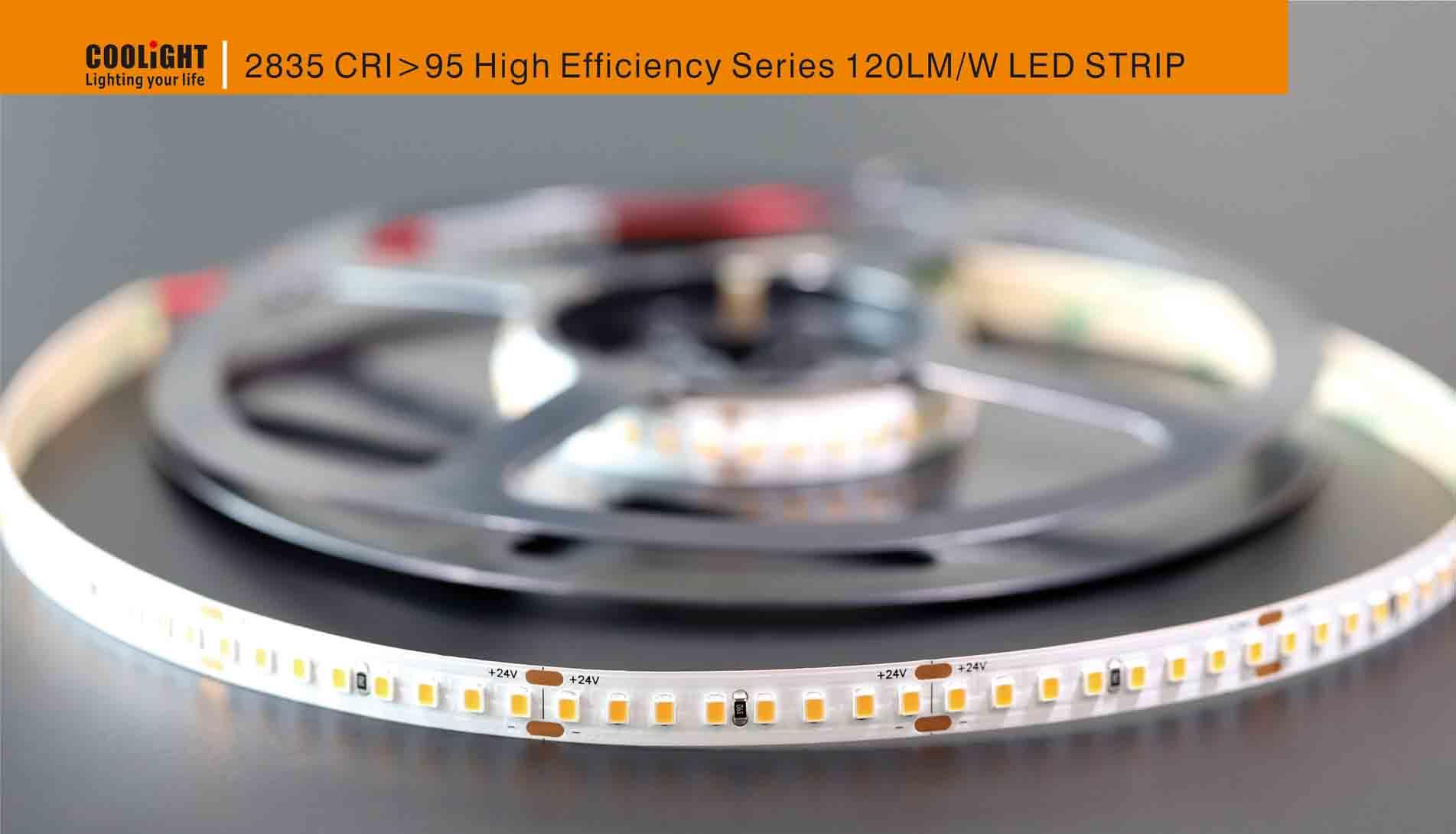 2835 160led/m 24v cri>95 19.2w led strip