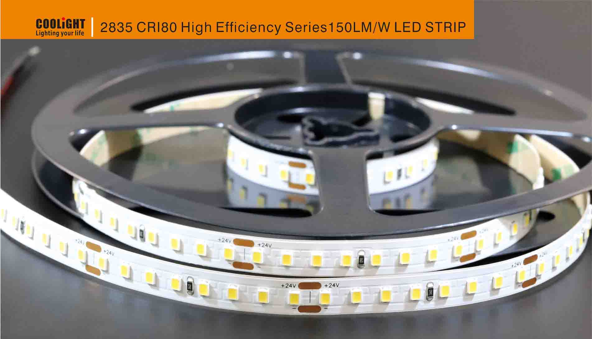 2835 128led/m 24v cri80 led strip