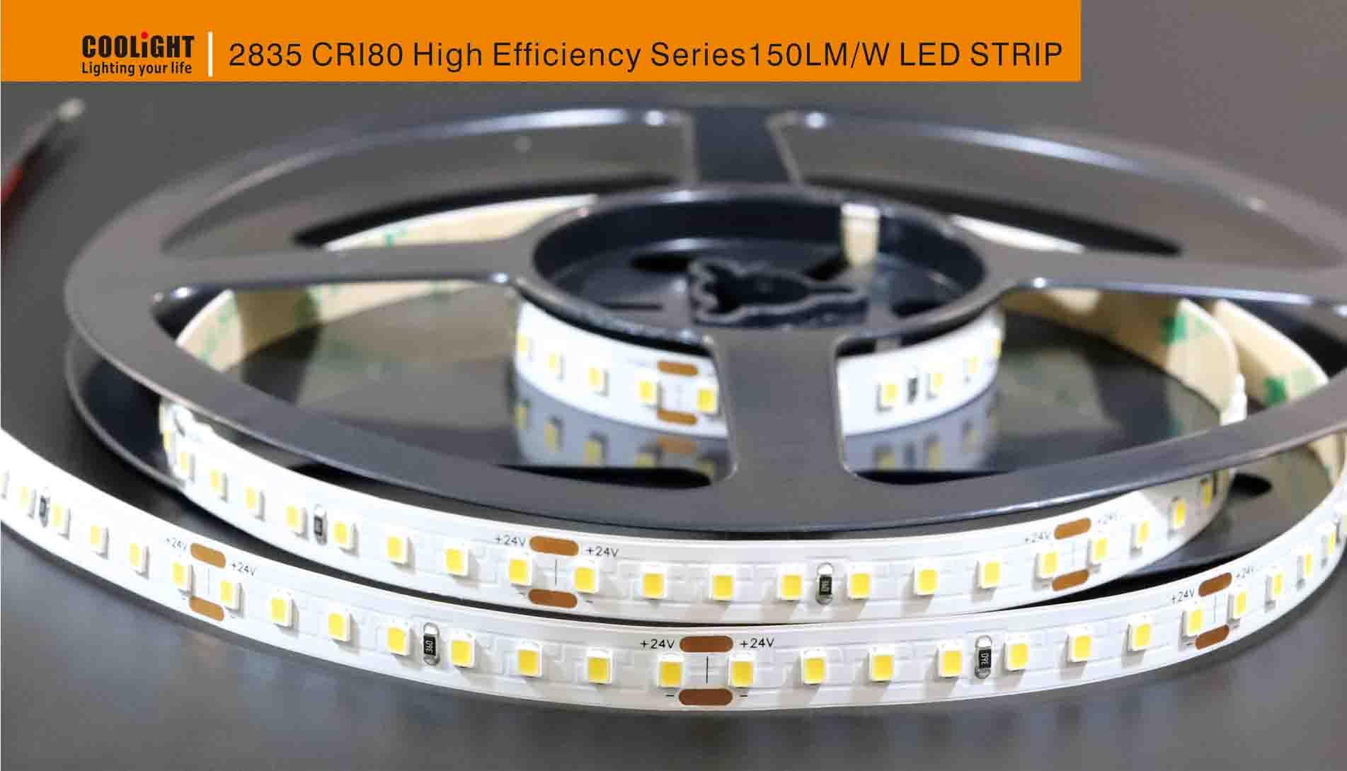2835 80led/m 24v cri80 10mm led strip