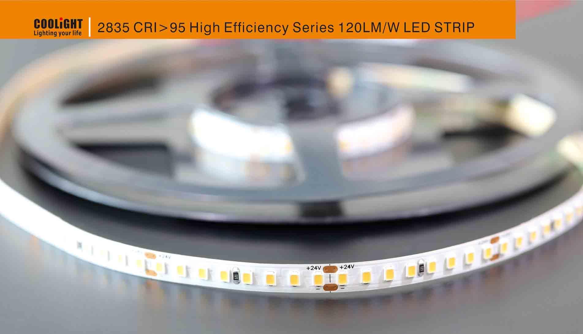 2835 160led/m 24v cri>95 9.6w led strip