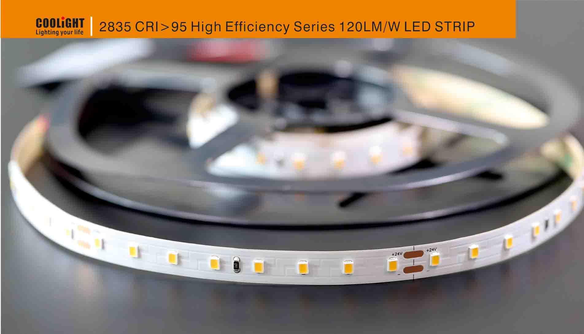 2835 80led/m 24v cri>95 14.4w led strip