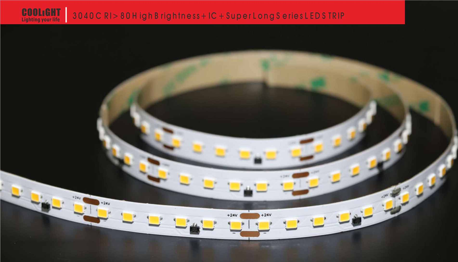 3040 120led/m 24v 14.4w led strip