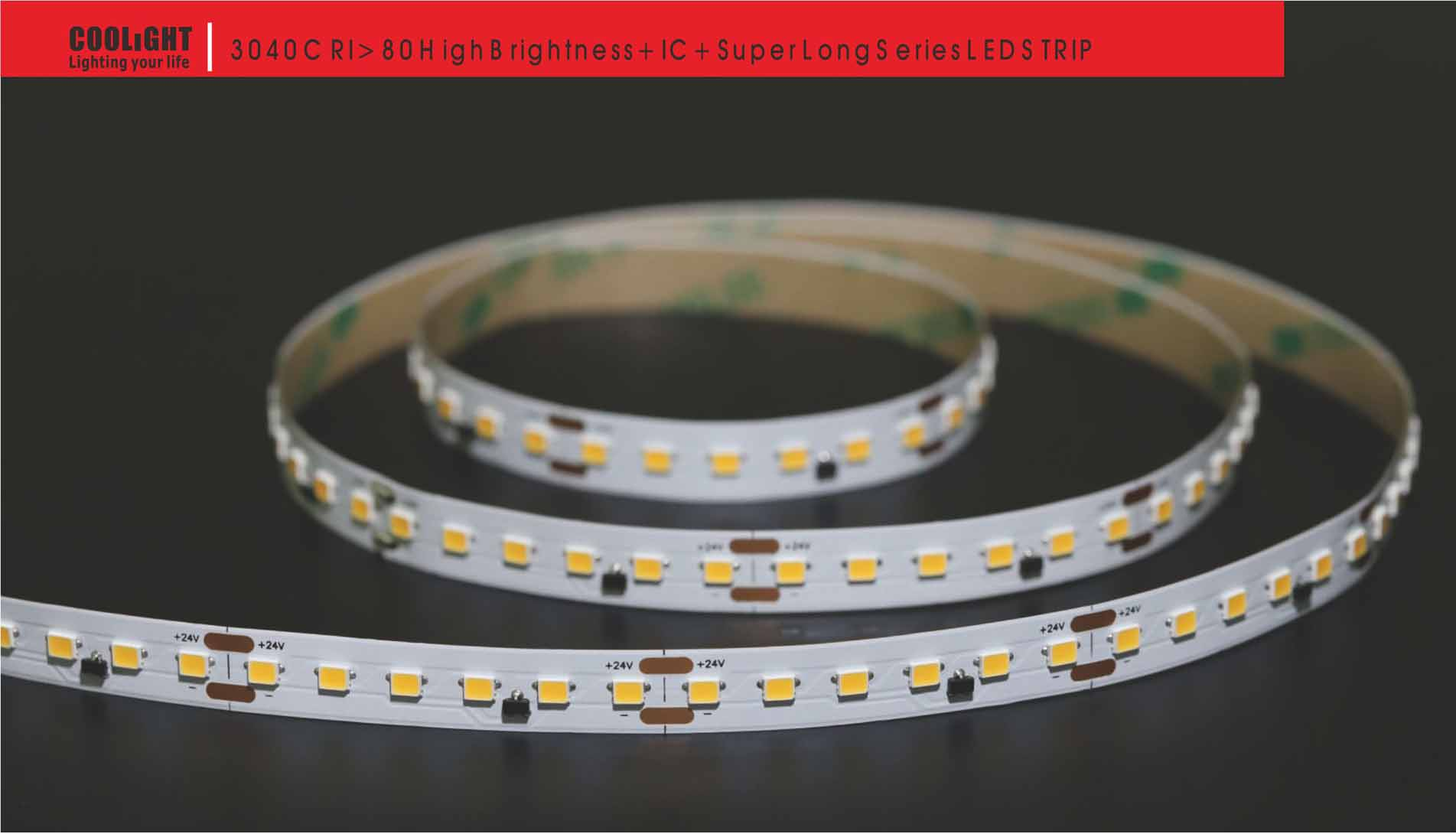 3040 120led/m 24v 7.2w led strip