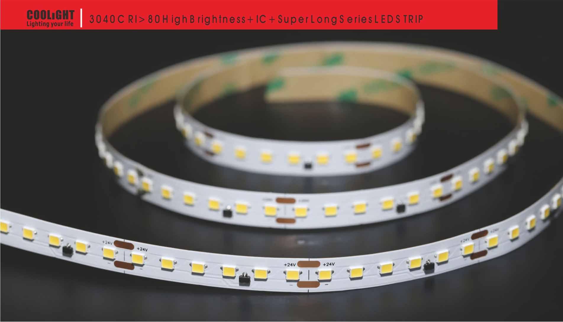 3040 120led/m 24v 9.6w led strip
