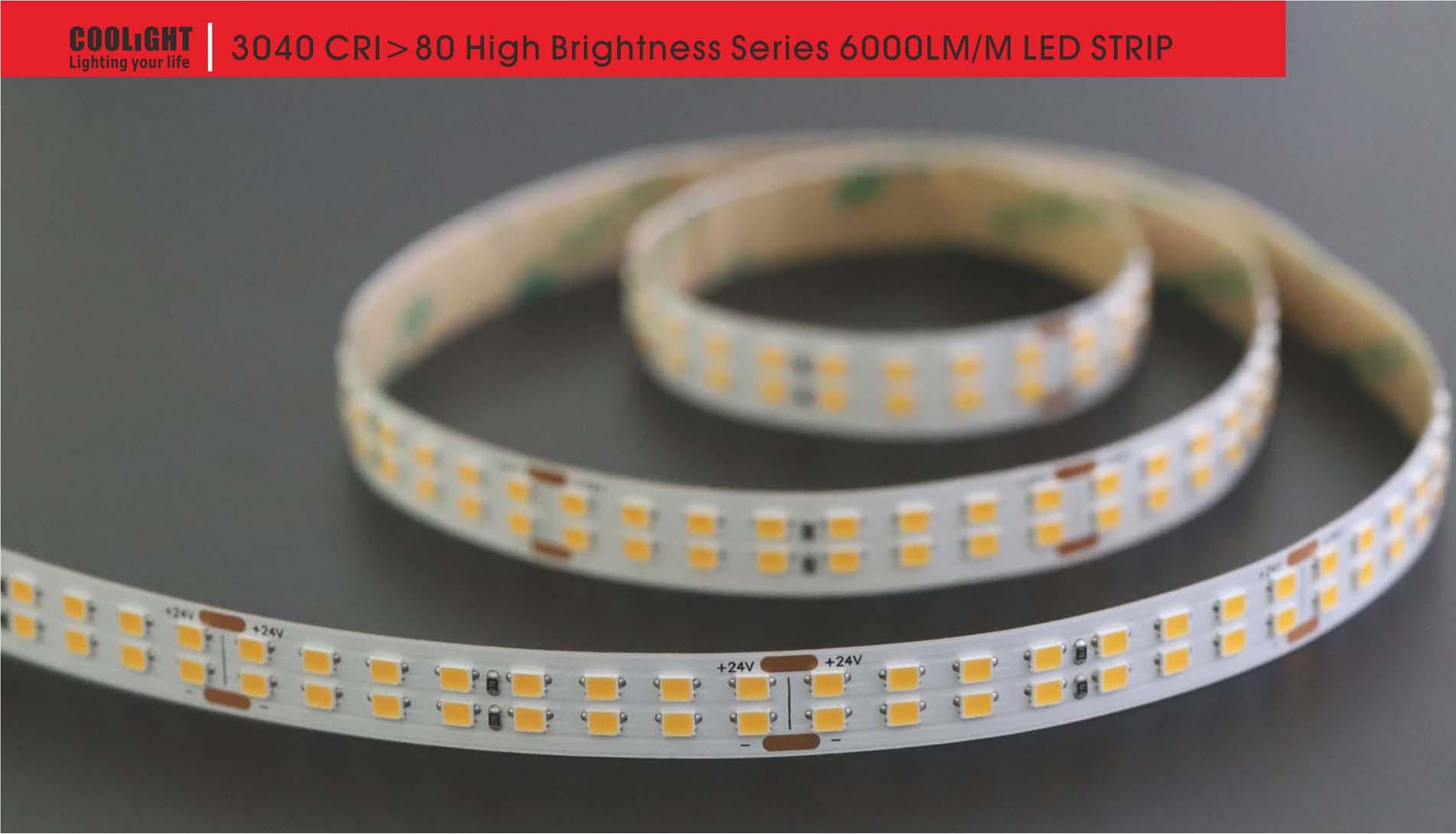 3040 256led/m 24v 40w led strip