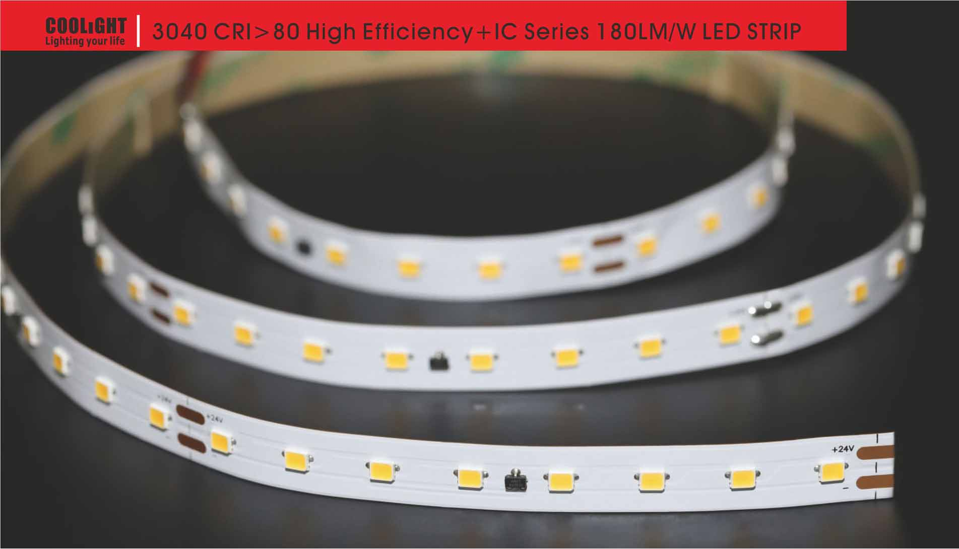 3040 80led/m 24v 14.4w led strip