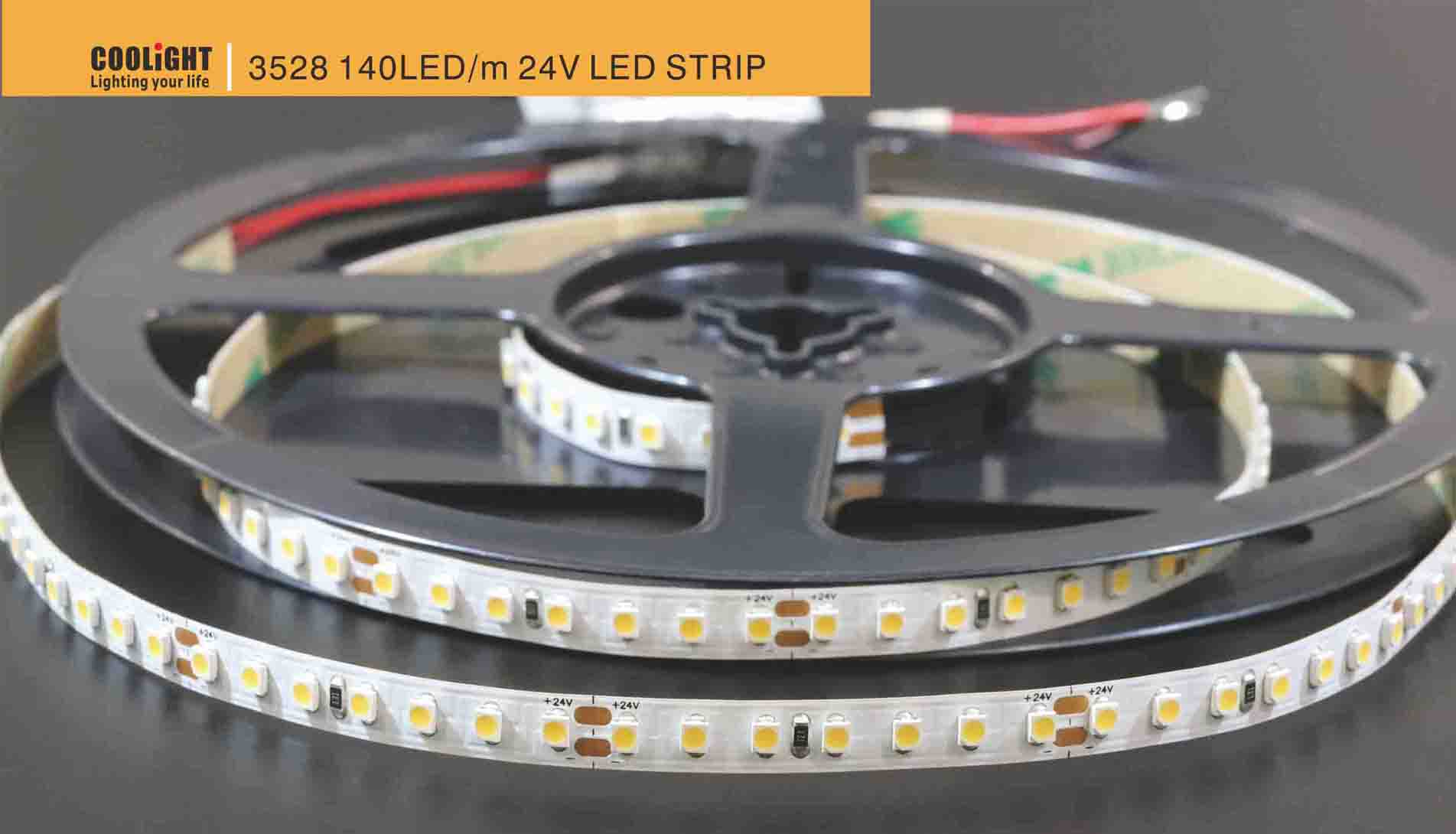 3528 140led/m 24v led strip