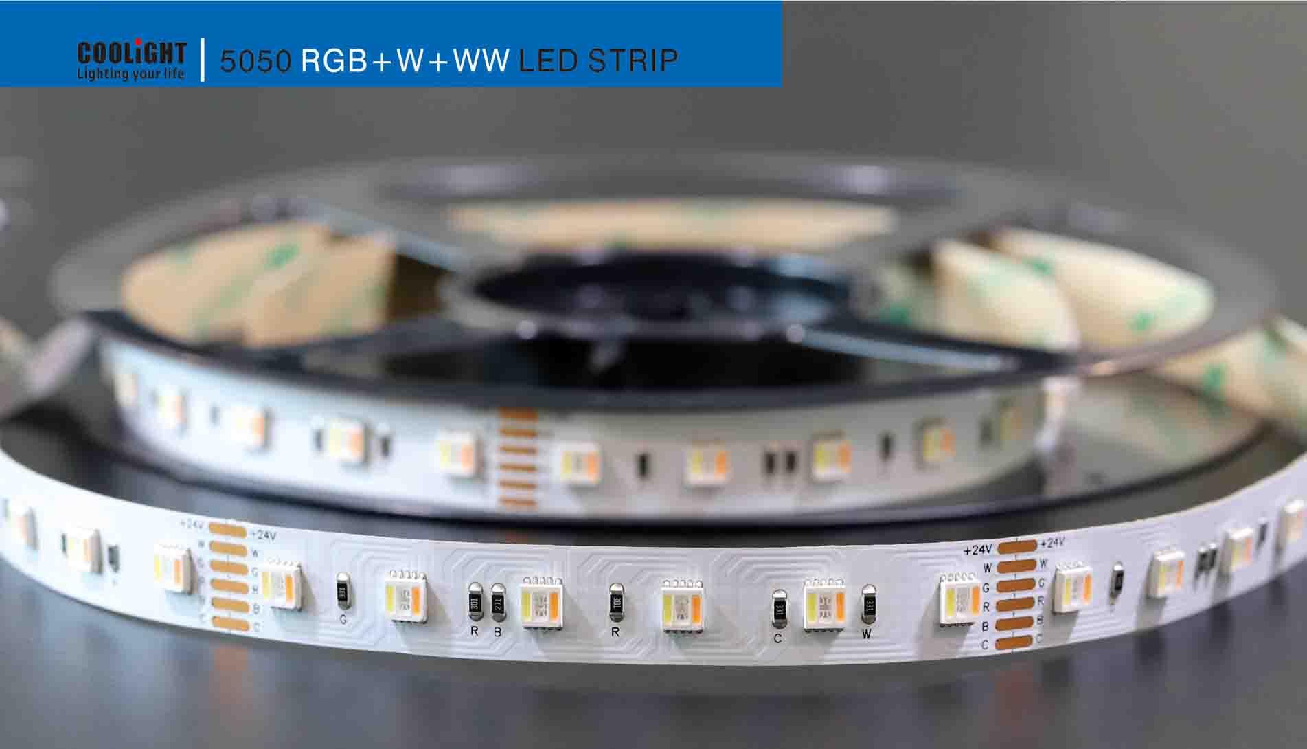 5050 60led/m 24v rgb+w+ww led strip