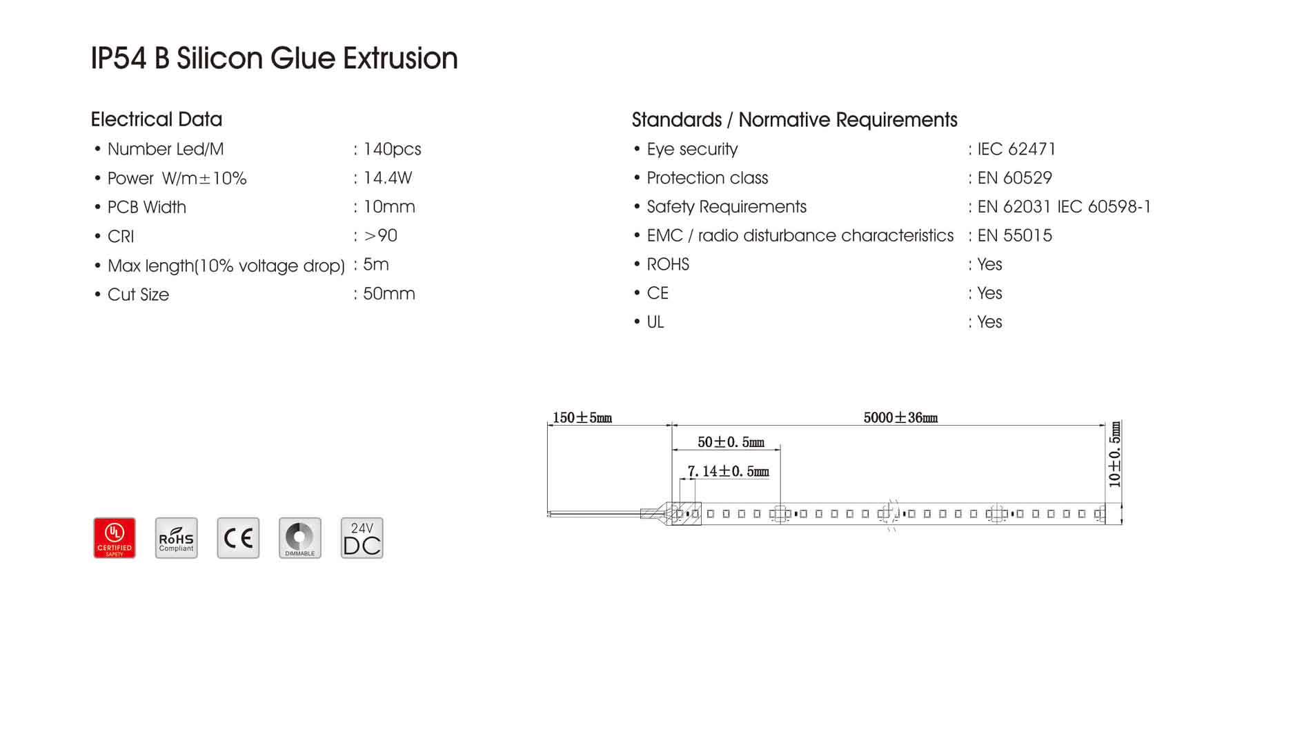 ip54 b silicon glue extrusion
