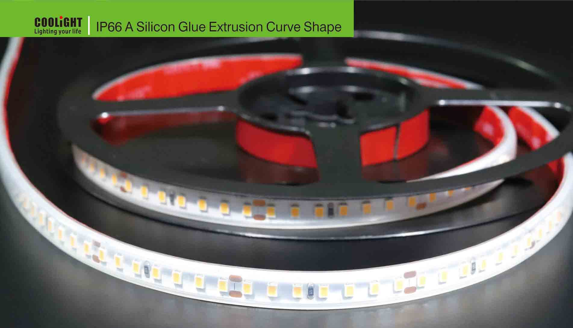 ip66 a silicon glue extrusion curve shape