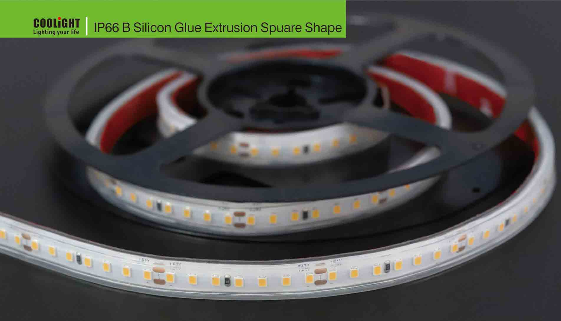 ip66 b silicon glue extrusion square shape