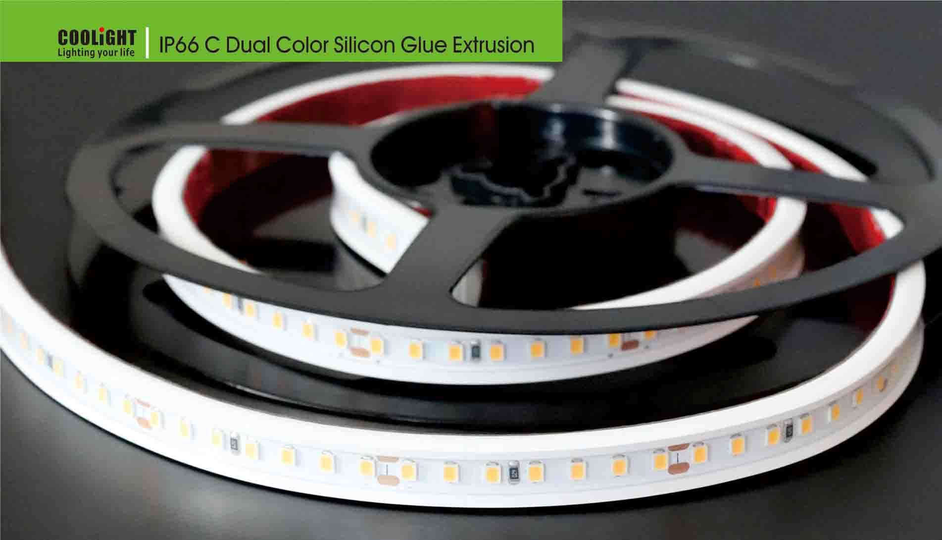ip66 c dual color silicon glue extrusion