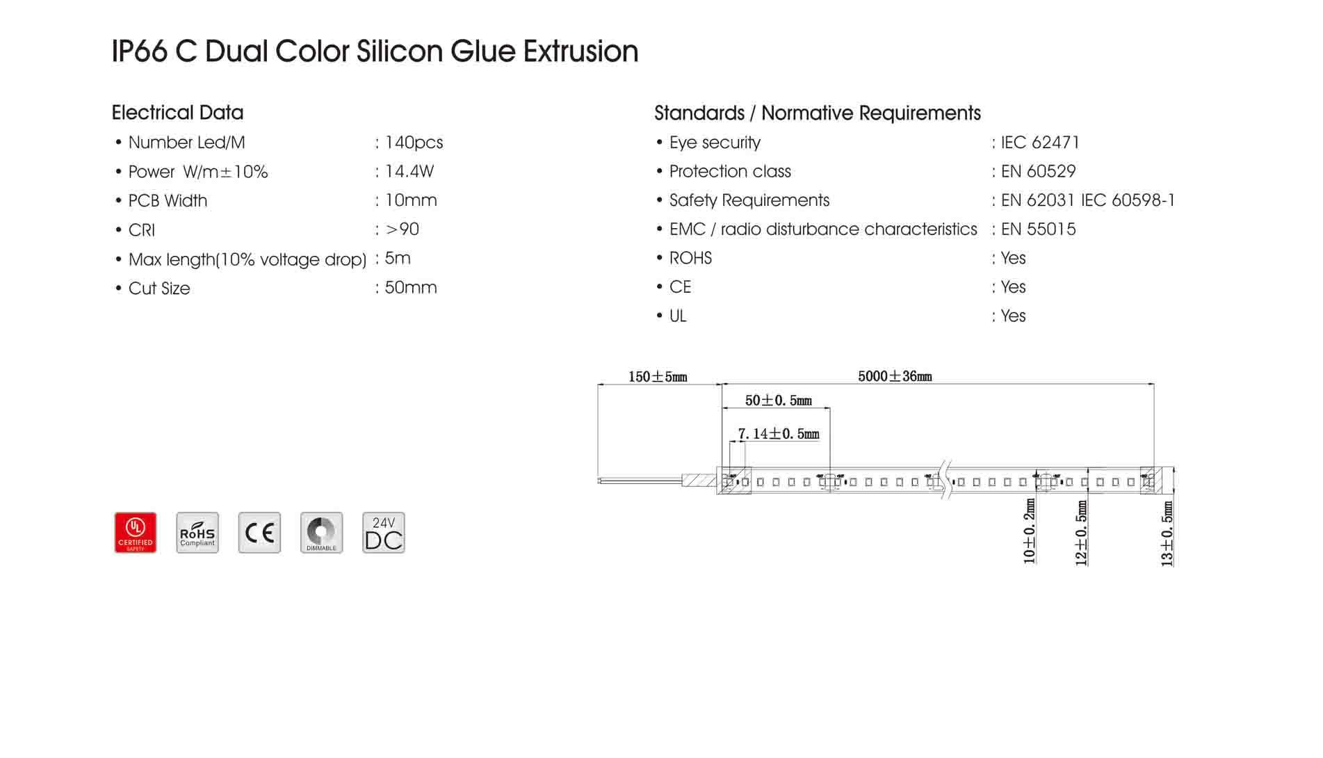 ip66 c dual color silicon glue extrusion