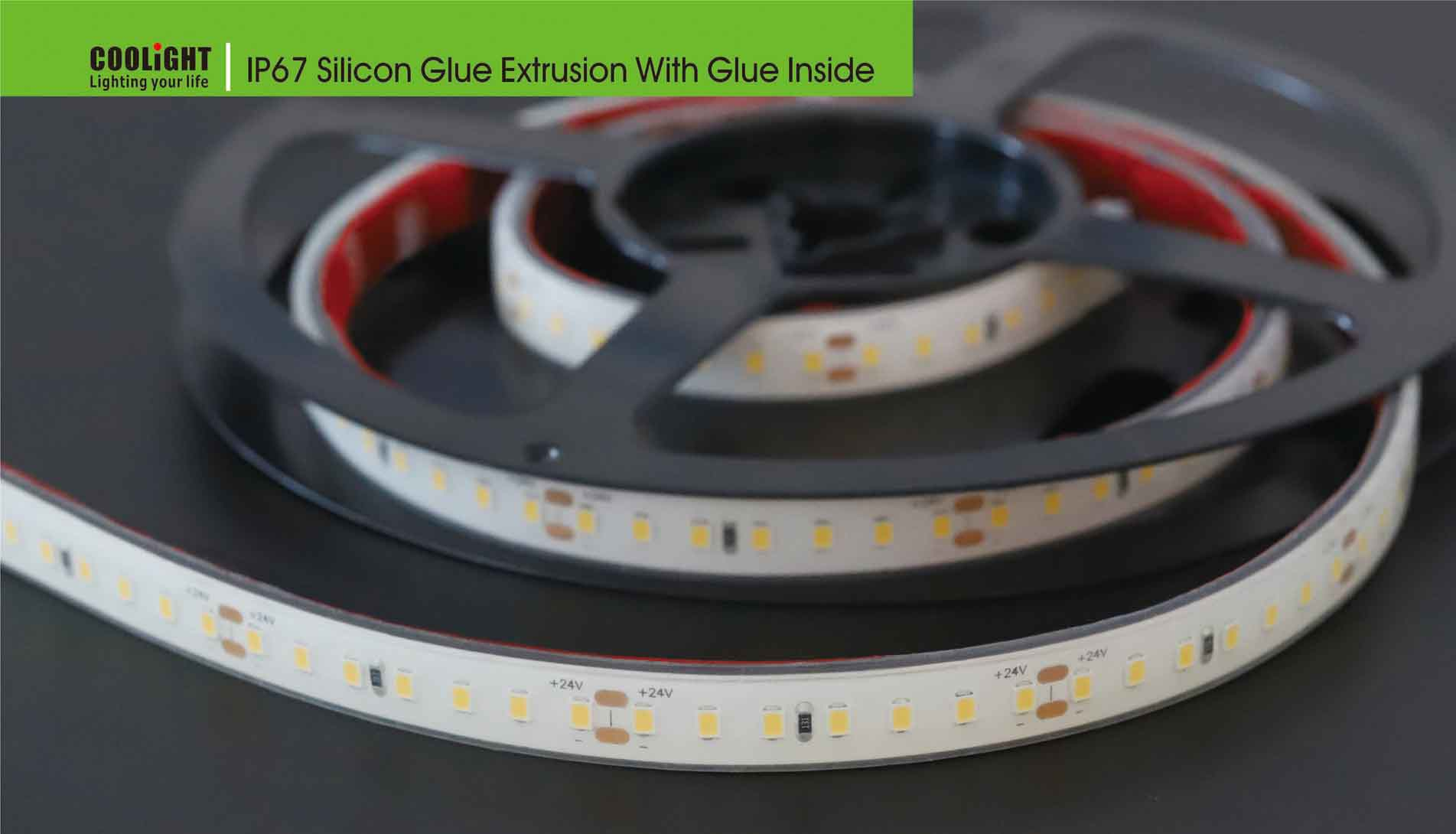 ip67 silicon glue extrusion with glue inside
